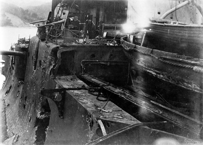Эскадренный броненосец «Орел» после Цусимы, 1905 год. история, события, фото