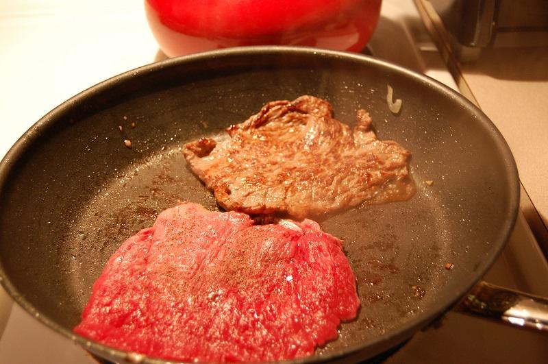 сковородка мясо