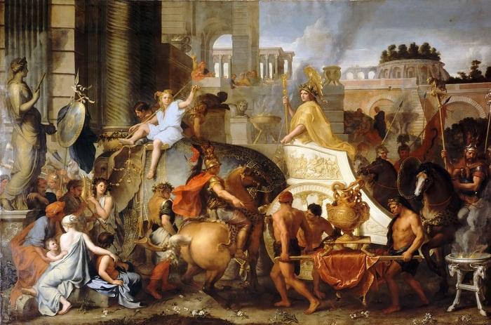 Триумфальный въезд Александра в Вавилон. Шарль Лебрен.