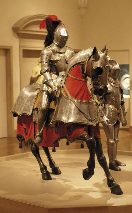Доспехи для коня и всадника, Италия