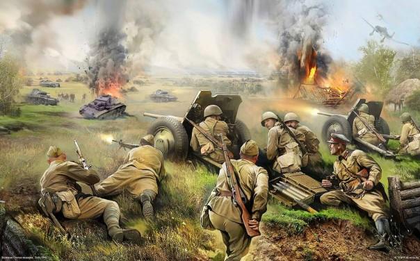 Как советские солдаты немецкими противотанковыми минами печку топили