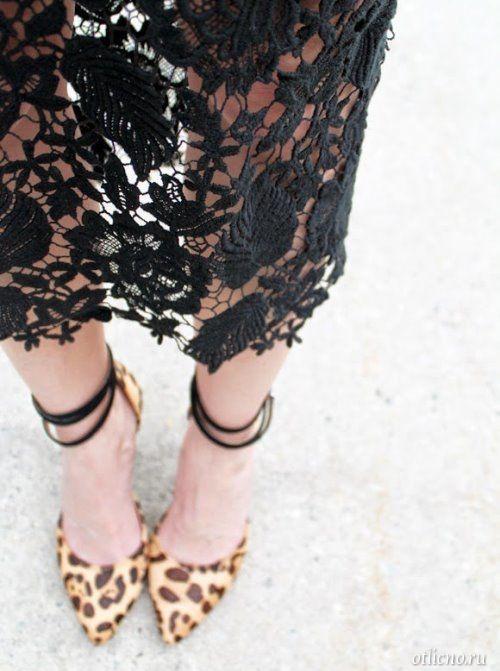Кружевная юбка карандаш