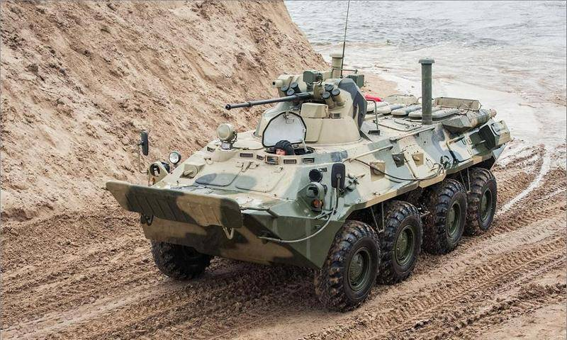 Перевооружаемся потихоньку: морпехи КФл получили новые БТР-82А
