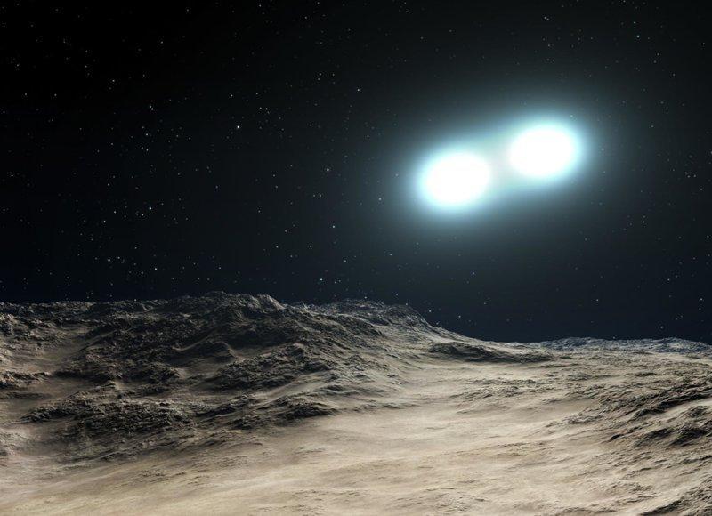 На планете системы Двойной Звезды астрономия, вселенная, звезды, интересное, космос, необычное, факт