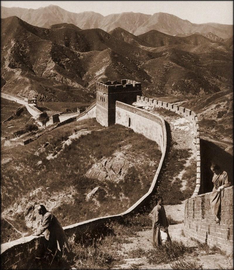 Великая Китайская стена, снимок 1907 года.  исторические фото, история, китай
