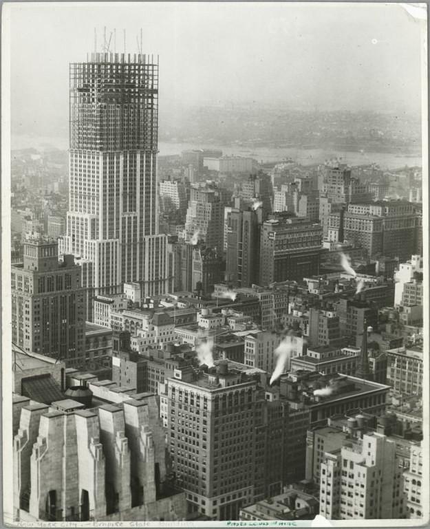 1. Эмпайр-стейт-билдинг, США, 1931 год достопримечательности, здания, старые фото, строительство