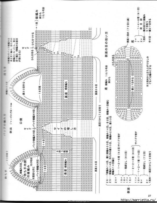 Корзинка и сумки крючком из полиэтиленовых пакетов (26) (542x700, 280Kb)