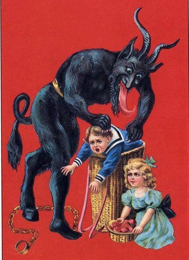 Занимательные, но жуткие факты о легендарном Крампусе – злом духе Рождества
