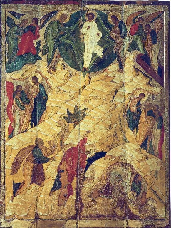 Икона Преображения Господня Новгород 16 век