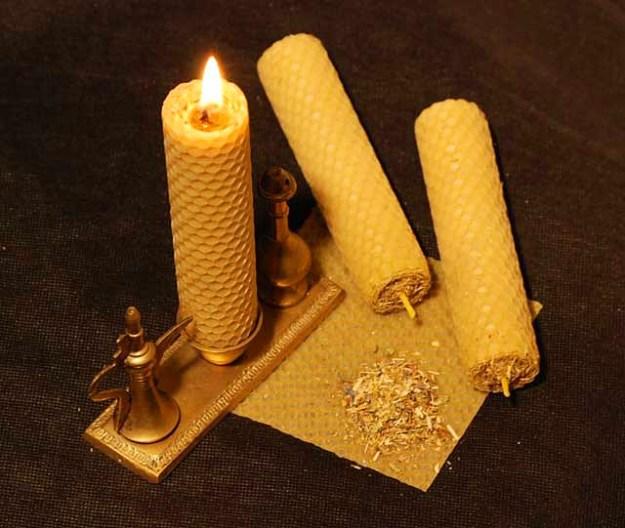 Громничная свеча Сретенье.