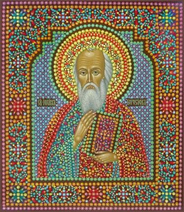 Икона Святого апостола Иоанна Богослова, иконописец Юрий Кузнецов