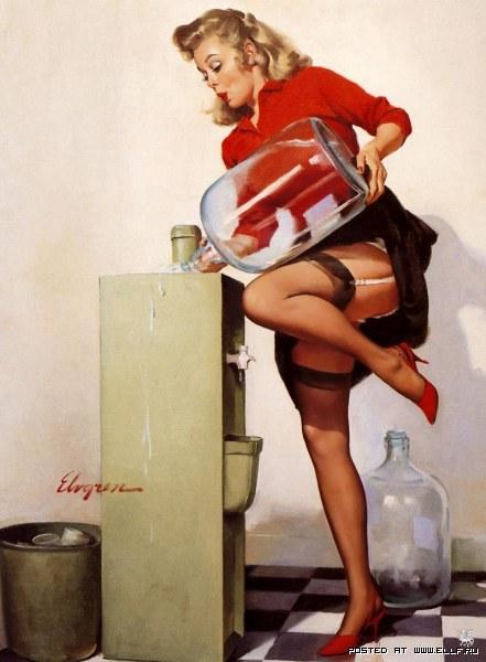 Классический пин-ап от Джила Элвгрена (24 картины)
