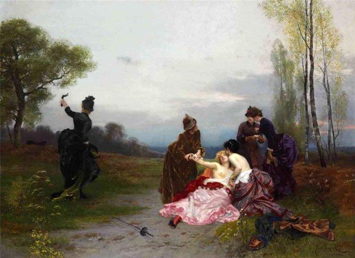 История женских дуэлей в XIX веке