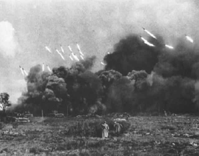 Артподготовка советских войск война, фото, фотокорреспондент