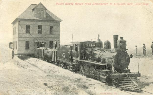Перевозка дома, Небраска, 1899 год. история, события, фото