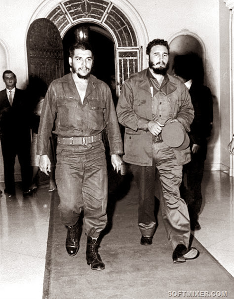 96-Ernesto Che Guevara Fidel Castro
