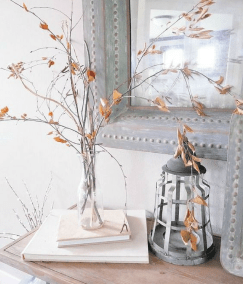 fall branches in the home decor