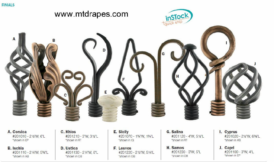 handcrafted wrought iron curtain hardware