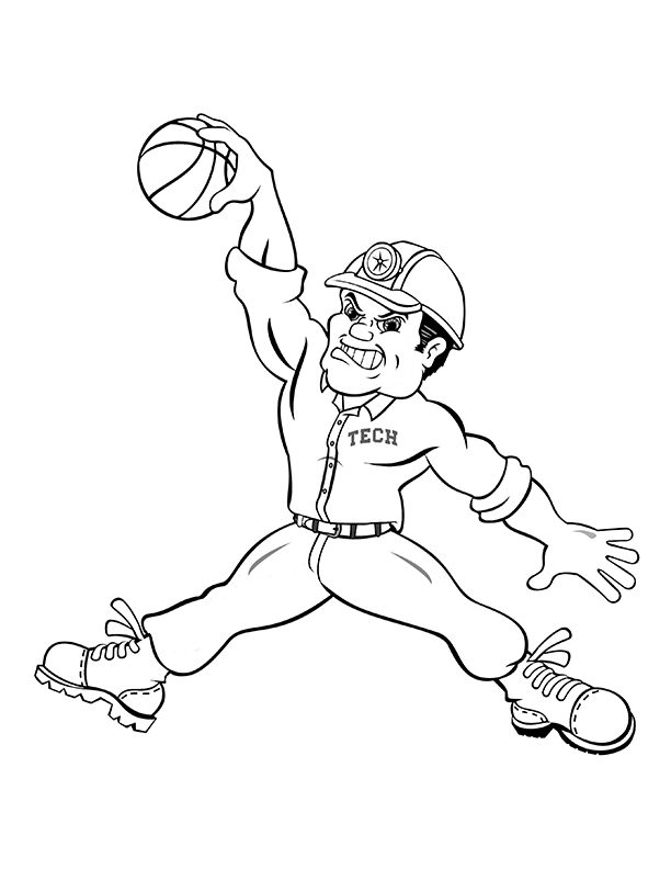 Montana Tech Coloring Pages