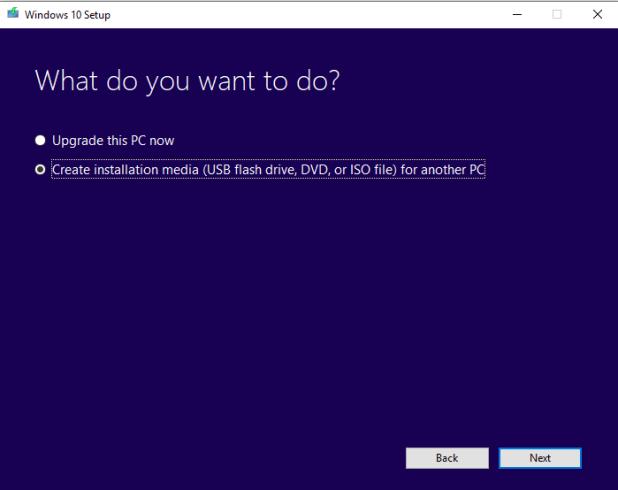 Choose Upgrade or download