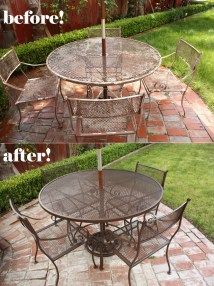 Painted Patio Furniture Ideas