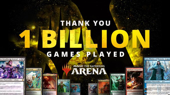 MTG Arena One Billion Games Played