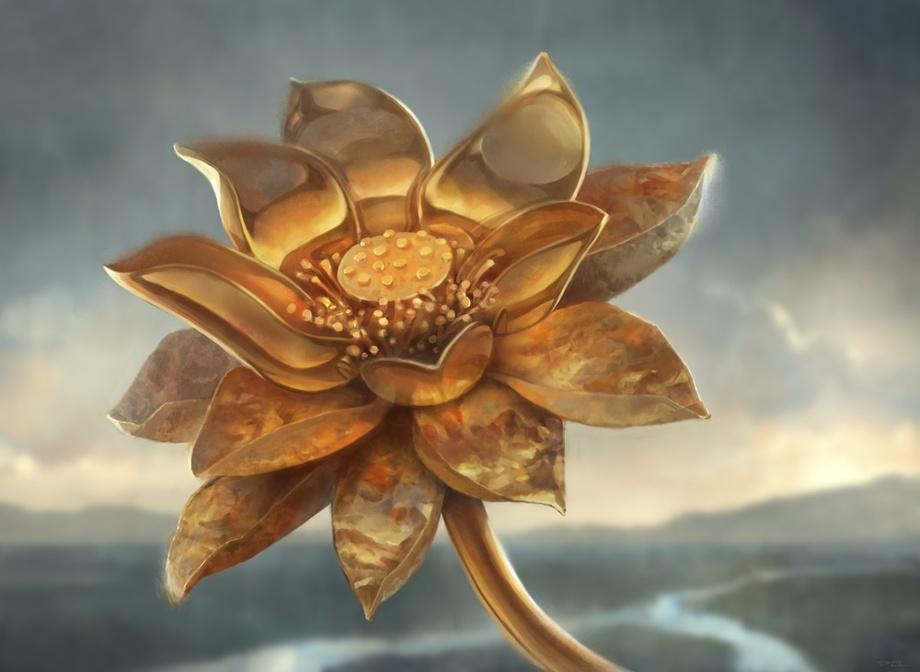Gilded Lotus Art by Daniel Ljunggren