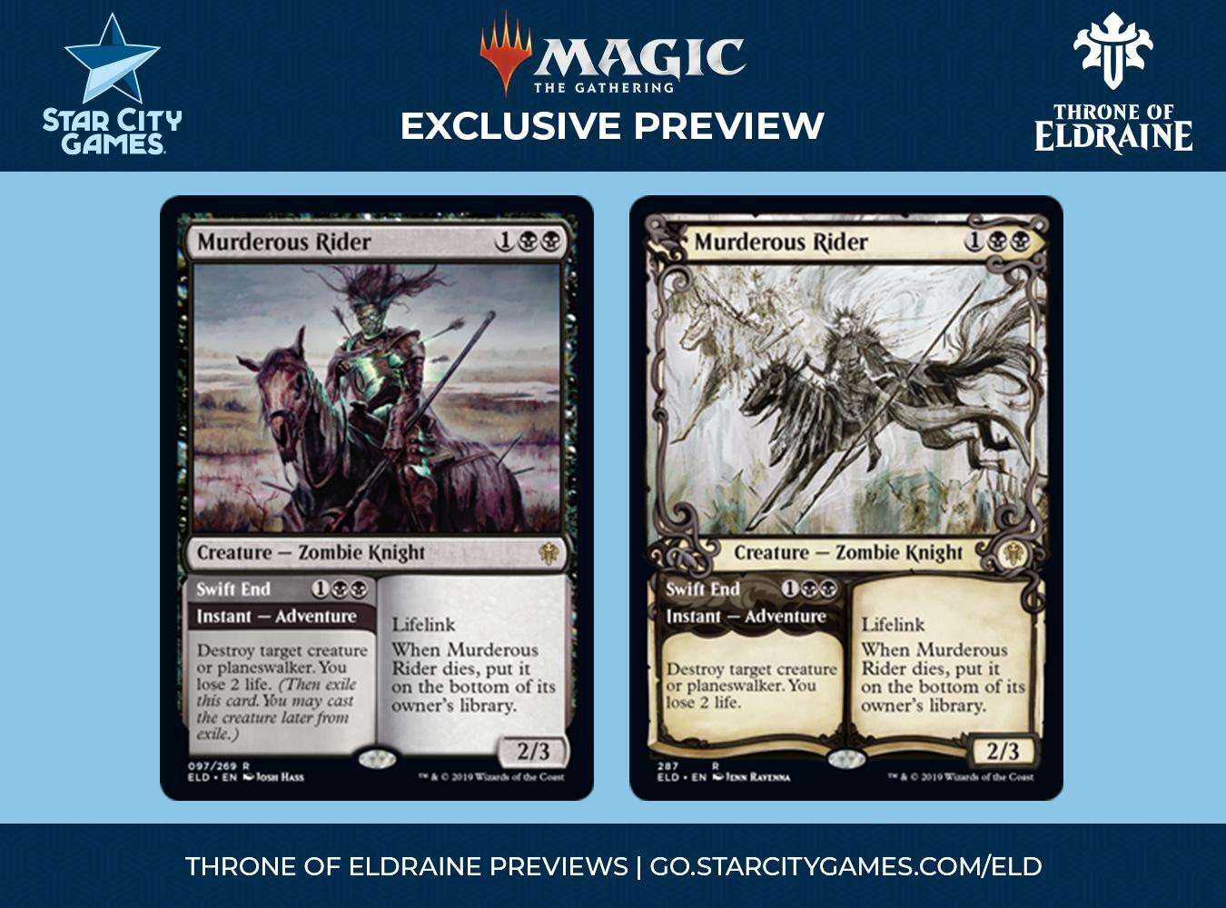 English Throne of Eldraine MTG Magic 1x Murderous Rider //// Swift End NM-Mint
