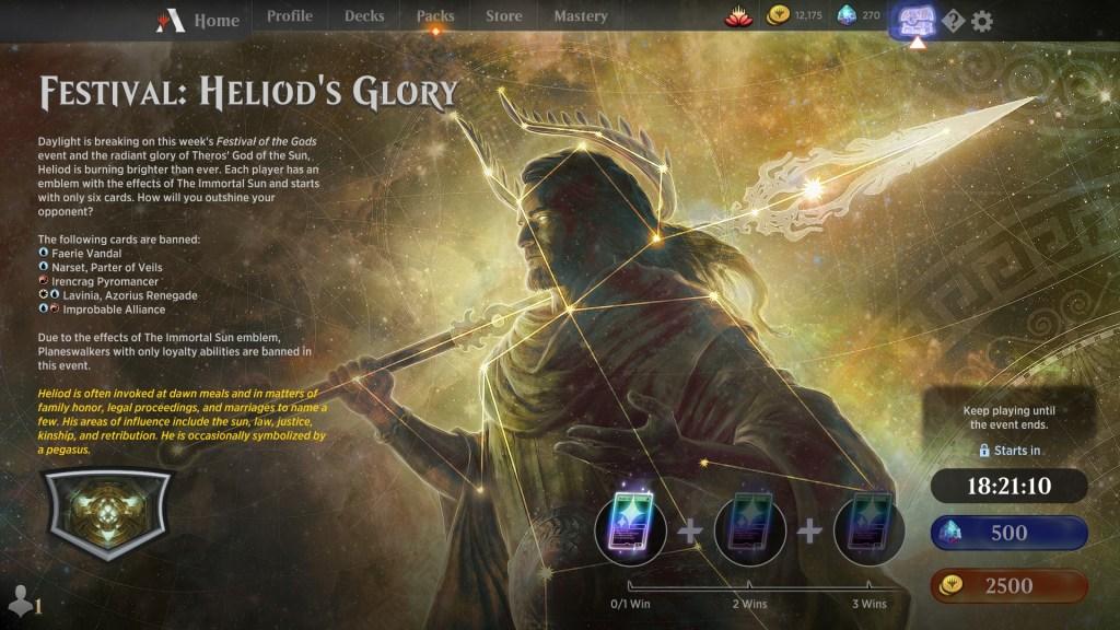 Festival: Heliod's Glory