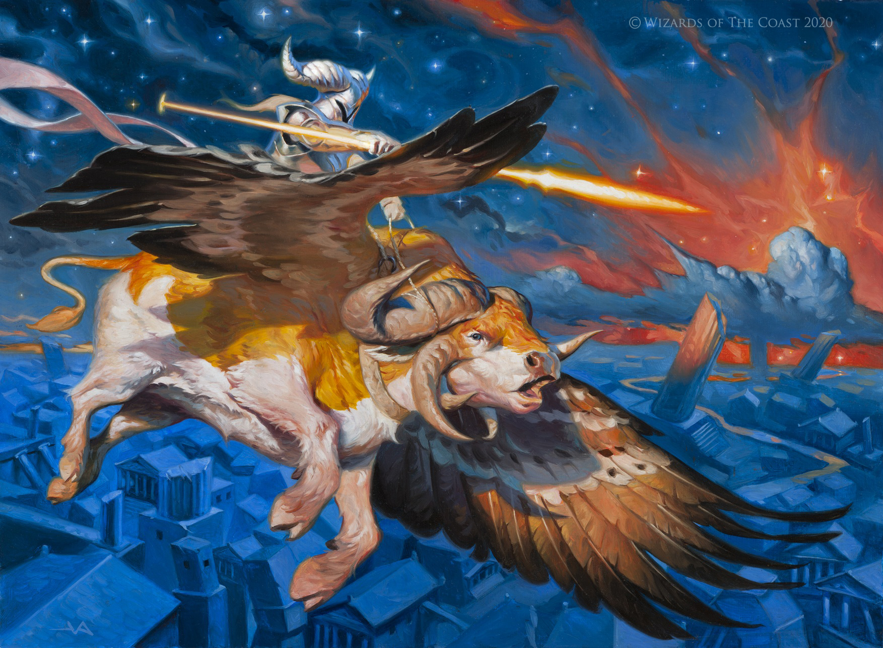 Archon-of-Falling-Stars-Theros-Beyond-Death-Art