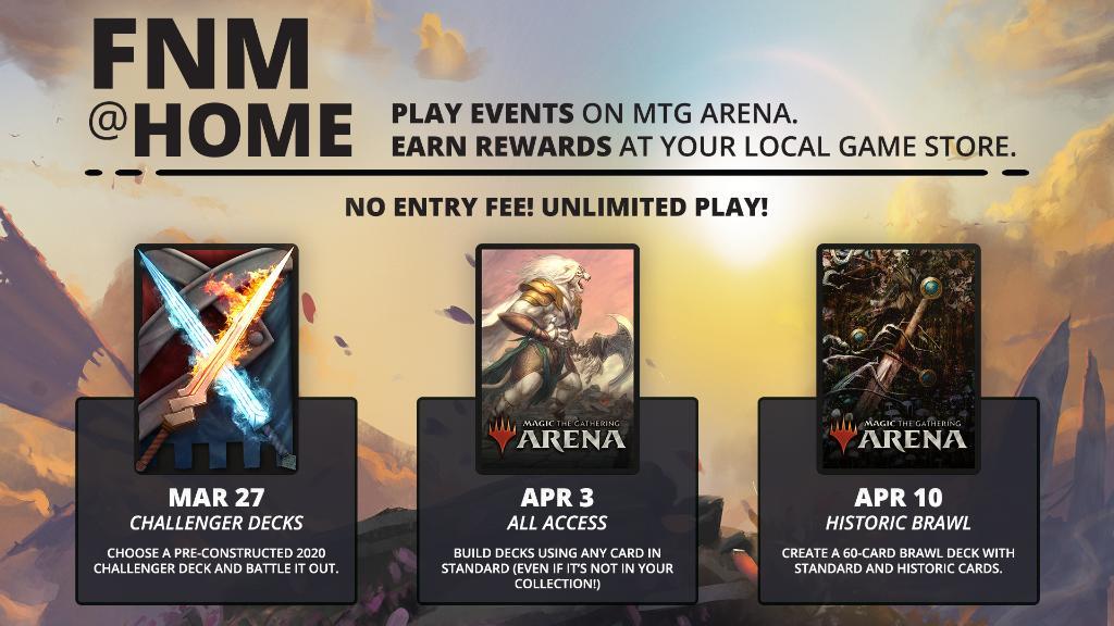 MAGIC MTGA MTG Arena Code FNM at Home Promo Pack AUG AUGUST 28