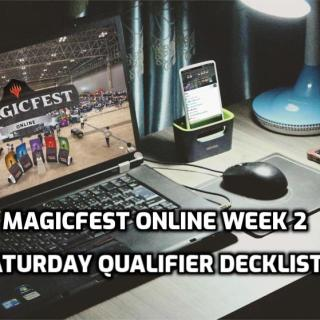 MagicFest Online Qualifier Week 2 Saturday Qualifier Decklists