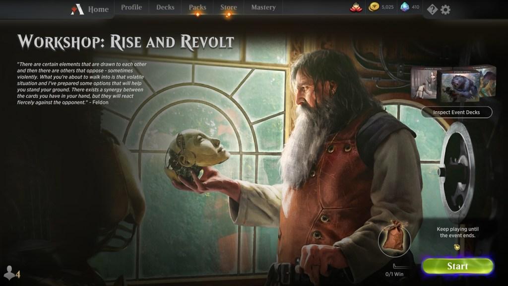 Workshop: Rise and Revolt