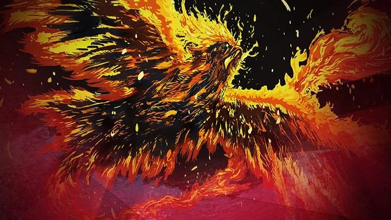 Everquill Phoenix Showcase Art by Daniel Warren Johnson
