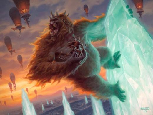 Kogla, The Titan Ape Art by Chris Rahn