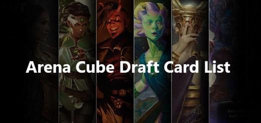 Arena Cube Draft Card List
