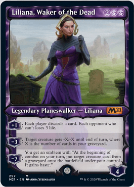 Liliana, Waker of the Dead Spoiler Card Style 1