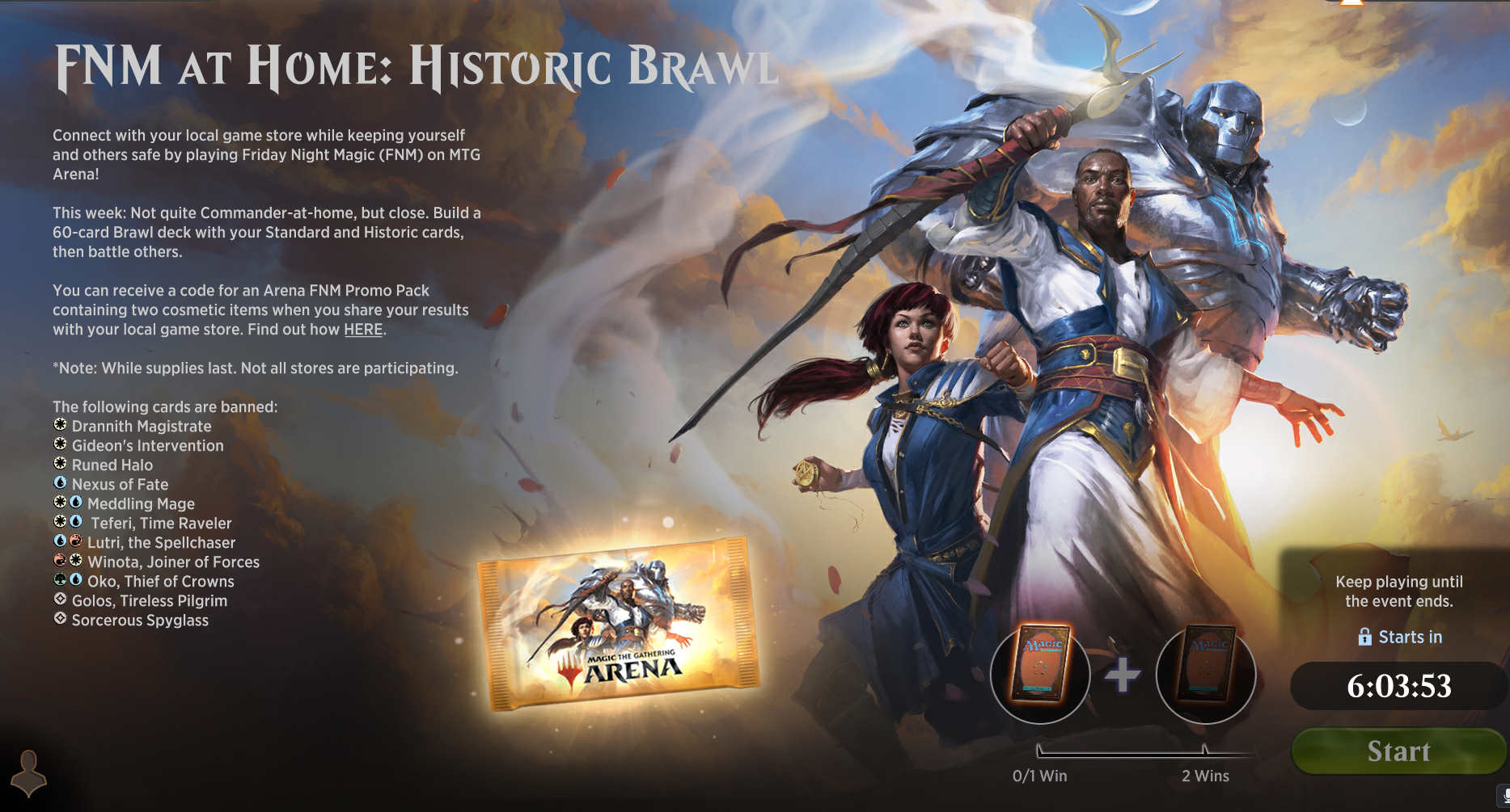Historic Brawl - FNM at Home Event Guide and Decklists