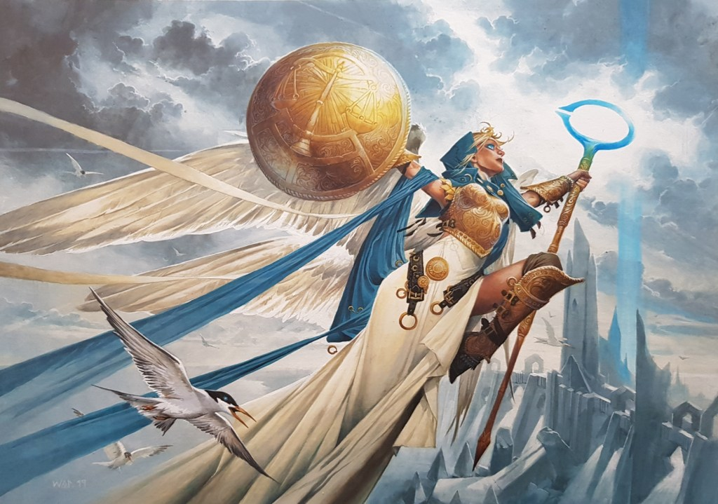 Linvala, Shield of Sea Gate Art by Wayne Reynolds
