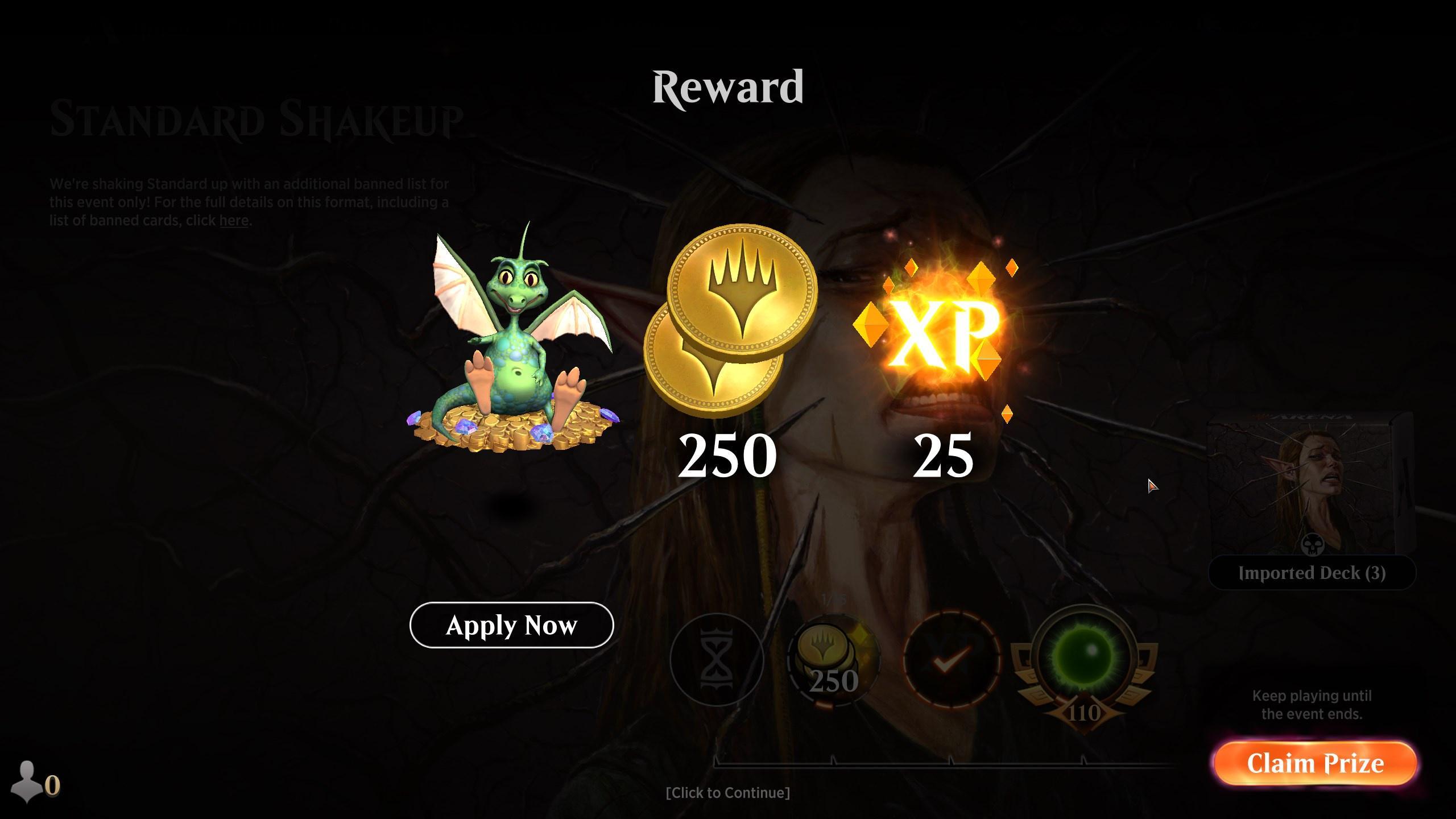 Standard Shakeup Event Reward