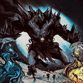 Aegar, the Freezing Flame Art by WolfSkullJack