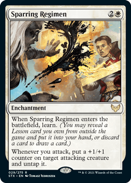 029 Sparring Regimen Strixhaven Spoiler Card