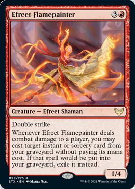 098 Efreet Flamepainter Strixhaven Spoiler Card