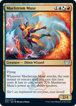 202 Maelstrom Muse Strixhaven Spoiler Card