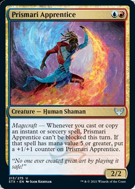 213 Prismari Apprentice Strixhaven Spoiler Card