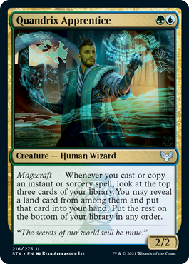 216 Quandrix Apprentice Strixhaven Spoiler Card