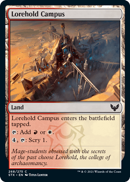 268 Lorehold Campus Strixhaven Spoiler Card