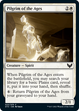 022 Pilgrim of the Ages Strixhaven Spoiler Card