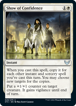 028 Show of Confidence Strixhaven Spoiler Card