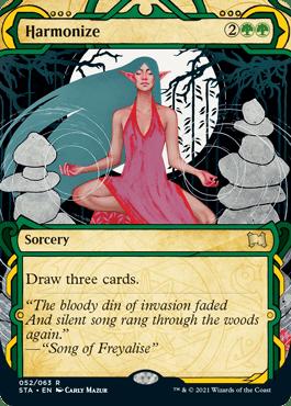 052 Harmonize Mystical Archives Spoiler Card